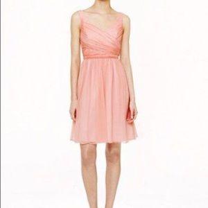 J. CREW Heidi Dress Style 93100 Silk Chiffon Sz 2